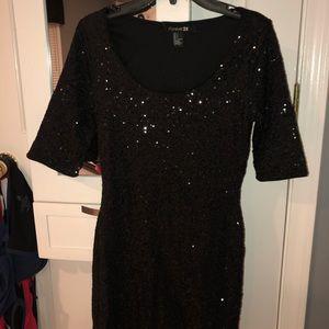 Sparkly Black Bodycon Dress